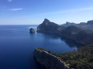 Hvad du sigter efter går du efter  - anything is possible. Udsigt fra Formentor.